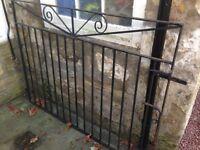 2 large heavy metal gates