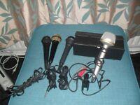 set of 4 microphones