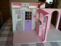 BARBIE Folding Dolls House with lots of accessories. Excellent Condition hardly used.