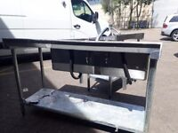 6ft Double commercial stainless steel sink catering equipment Restaurant item
