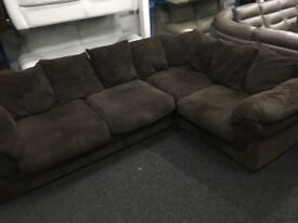 New/Ex Display Dfs Brown Cord Corner Sofa