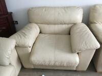Quick sale 3 seater and 2 single seat real leather sofa