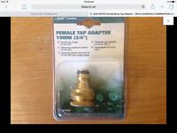 "Orbit 94752 Female Brass Tap Adapter - 19mm (3/4"") COMBINATION"