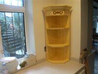 Two Kitchen Corner Shelfs