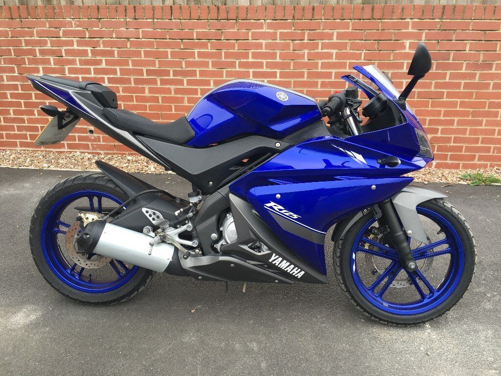 yamaha yzf r125 2013 blue 125cc motorcycle motorbike in chesterfield derbyshire gumtree. Black Bedroom Furniture Sets. Home Design Ideas