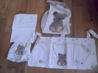 Mothercare 5 piece, complete bedding set, washed/cleaned £10!