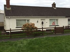 2 bedroom bungalow, with modern kitchen and bathroom. Enclosed rear garden, double glazed and OFCH.