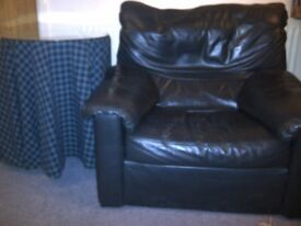 Bargain leather sofa and armchair
