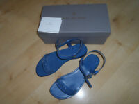 MULBERRY SANDALS BLUE TWISTED PLAIT JESUS STYLE SIZE 39 WITH BOX
