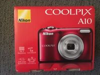 Brand new Nikon Coolpix A10 red camera