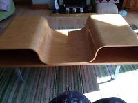 Coffee table modern design light teak colour cost £200