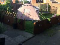 Large OUTWELL family tent and unused awning . Fantastic condition