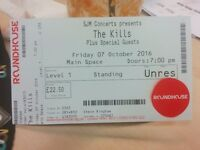 1 x The Kills at Roundhouse Friday October 7th