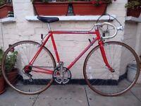 Vintage Red peugeot Racer bike