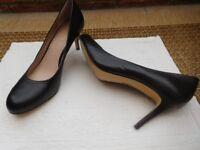 Brand new black leather shoes (Jones), size 7(40), 3 inch heel.