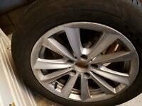 Alloys + tyres runflat 17""