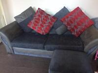 Matching 3 seater sofa, footstall and cuddler chair