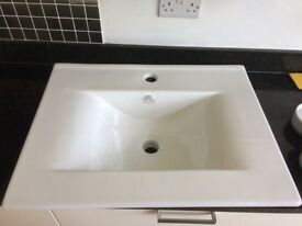 Brand new, still boxed Monica wash basin to go with Monica QX base unit.