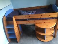 Stompa Mid Sleeper Solid Wood single child's Bed