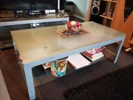 Frosted Glass Coffee Table and matching TV Unit