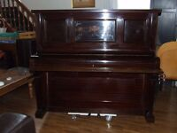 PIANO UPRIGHT WITH STOOL (CRANE & SON ltd) CLEANED CONDITIONED AND TUNED !! CAN DELIVER