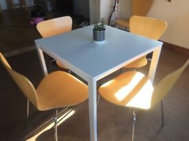 Small dining table a chairs