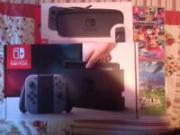 Nintendo Switch 32GB Grey Console (with Grey Joy-Controller) With Games + Accessories
