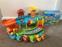 Vtech Toot-Toot Garage with vehicles and track