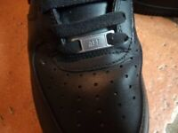 Nike Air Force 1 Trainer black size 8