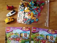 Lego caravan and police boat bike etc