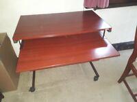 Mahogany style computer table