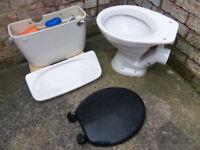 Armitage Shanks white low level ceramic cistern + toilet