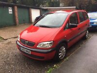 Vauxhall Zafira Club 1.6 in great condition (Perfect for Family) Cheap to Insure/Run/Maintain
