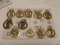 Selection of 11 Antique Horse Brasses (1837 To Date) - 8 royalty & 3 others
