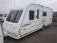 Touring caravan elddis crusader auroa 2007 fixed end bed
