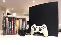Sony PlayStation 3 Slim 250GB Charcoal Black Console (CECH-2004B)+13 games+2 Controllers (EU lead)