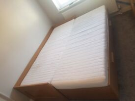 IKEA Brimnes Oak Effect Day bed & Mattresses