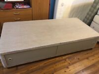 Single divan bed base with storage