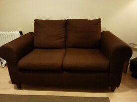 Ikea Fothult Brown Two Seat Sofa