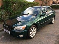 65K mileage ROYAL GREEN VGC LEXUS IS200 ONLY 2 owners Full main dealer history MOT 12/17