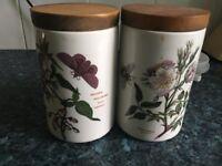 Portmeirion ceramic jars
