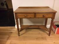 Country Pine Console table / Desk