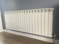 Aluminum radiators height H 300mm,H 500mm,H 600mm. Width from W 400mm to W 3000mm