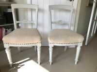 Pair of Painted Sturdy Occassional Chairs