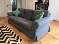 Grey 3-seater sofa for sale