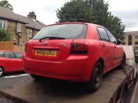TOYOTA COROLLA 1.4 VVTI 2001 2002 2003 2004 2005 2006 BREAKING FOR SPARES