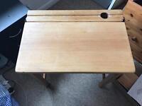 Solid Pine Old School Desk