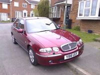 ROVER 45 MOT OCTOBER 2017 LOW MILEAGE. V.G.C COMFORTABLE FAMILY CAR.