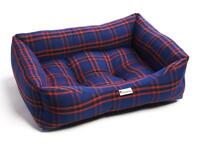 Brand New - Black Royal Tartan Luxury Sofa Pet Dog Bed (Large)