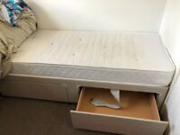 Free Small Single Divan with Drawers and Matress